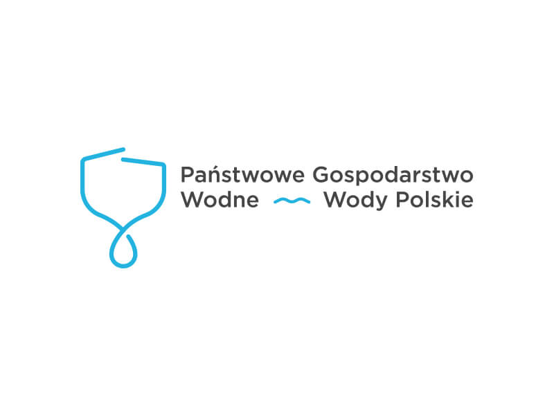 Poland shape logo with water dropping from the bottom