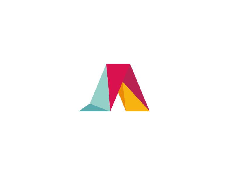 Aarto logo, polygonal letter A