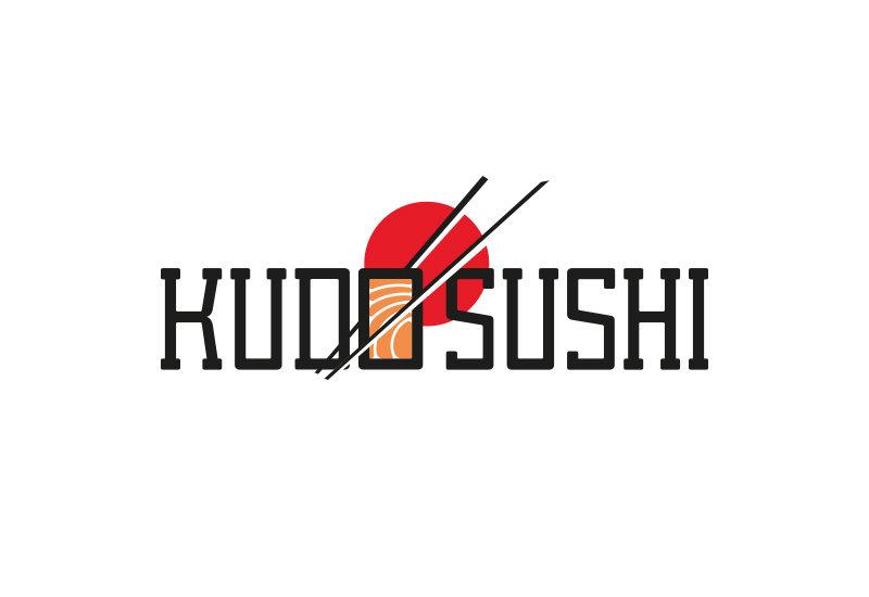 Kudo Sushi logo branding